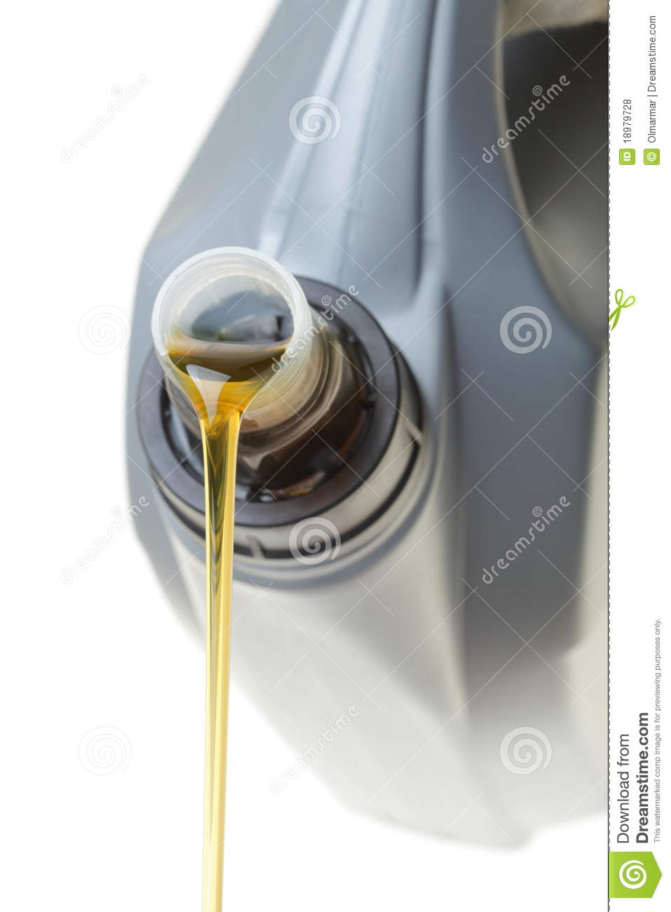 Can Car Engine Oil Isolated On White Royalty Free Stock