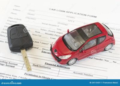 Car Loan Application Form Stock Image - Image: 24115431