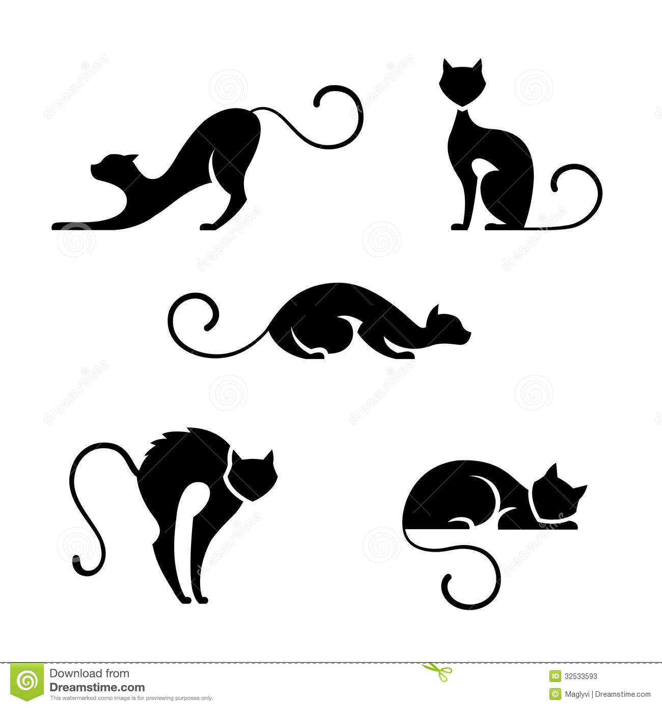 Cat symbols stock vector. Illustration of kitty, abstract ...