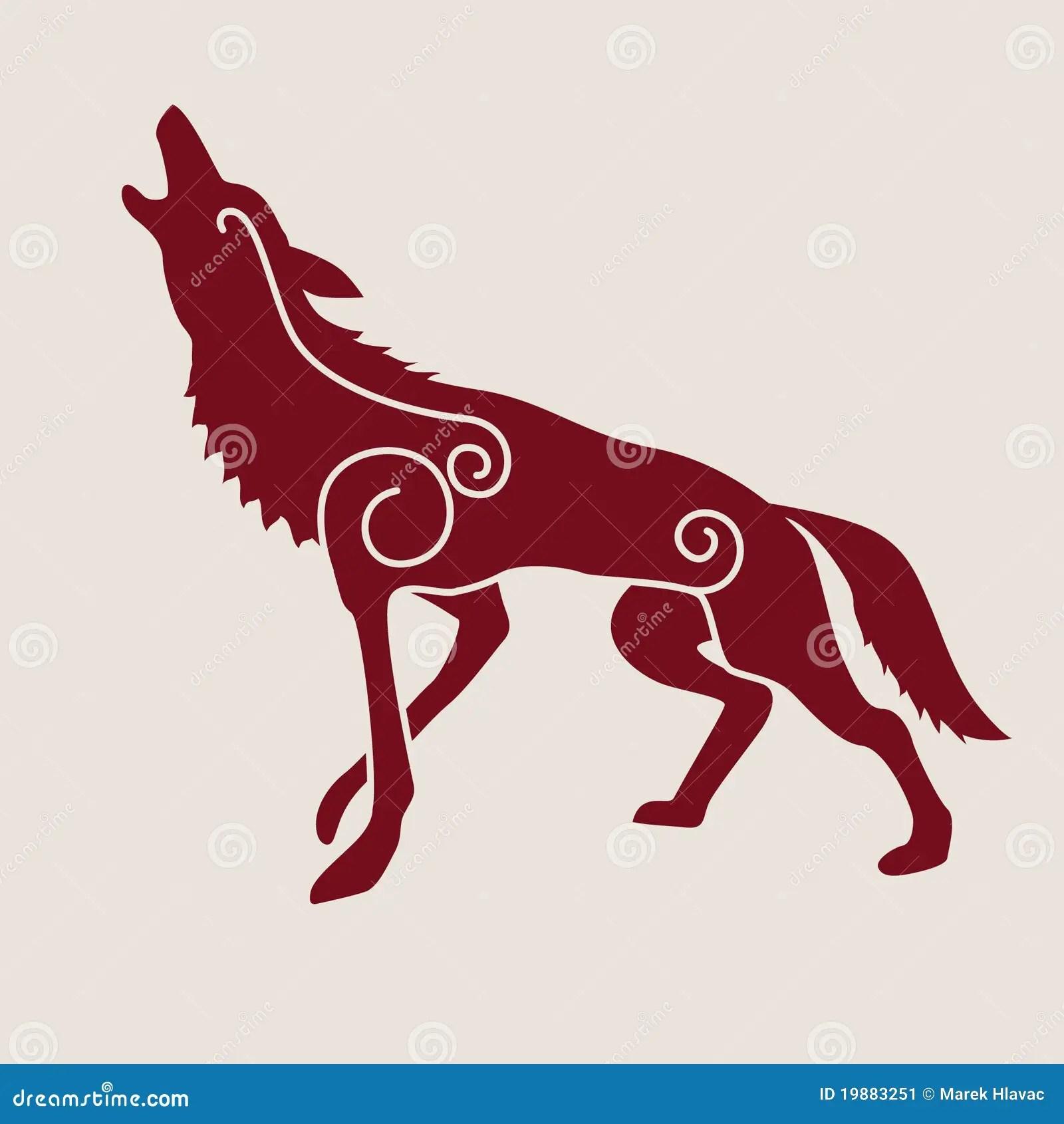 Ancient Native American Wolf Symbol