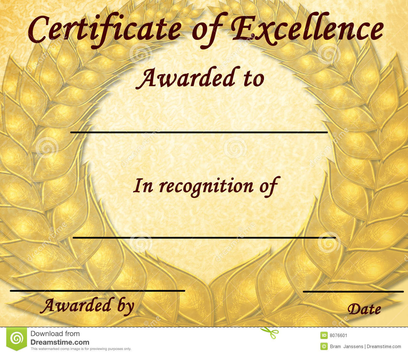 Certificate Of Excellence Stock Illustration Illustration