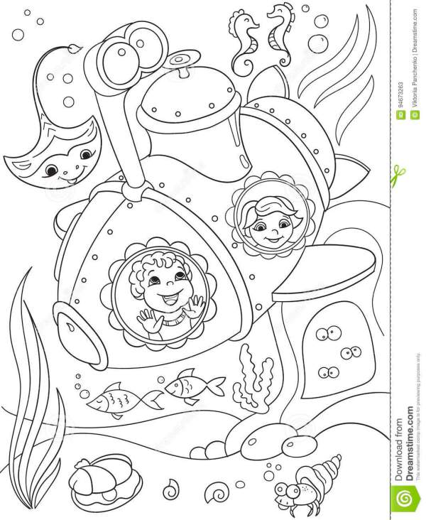 submarine coloring pages # 39