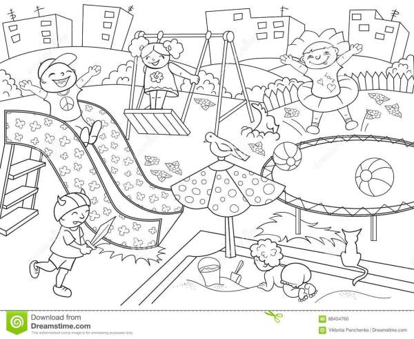 playground coloring pages # 7