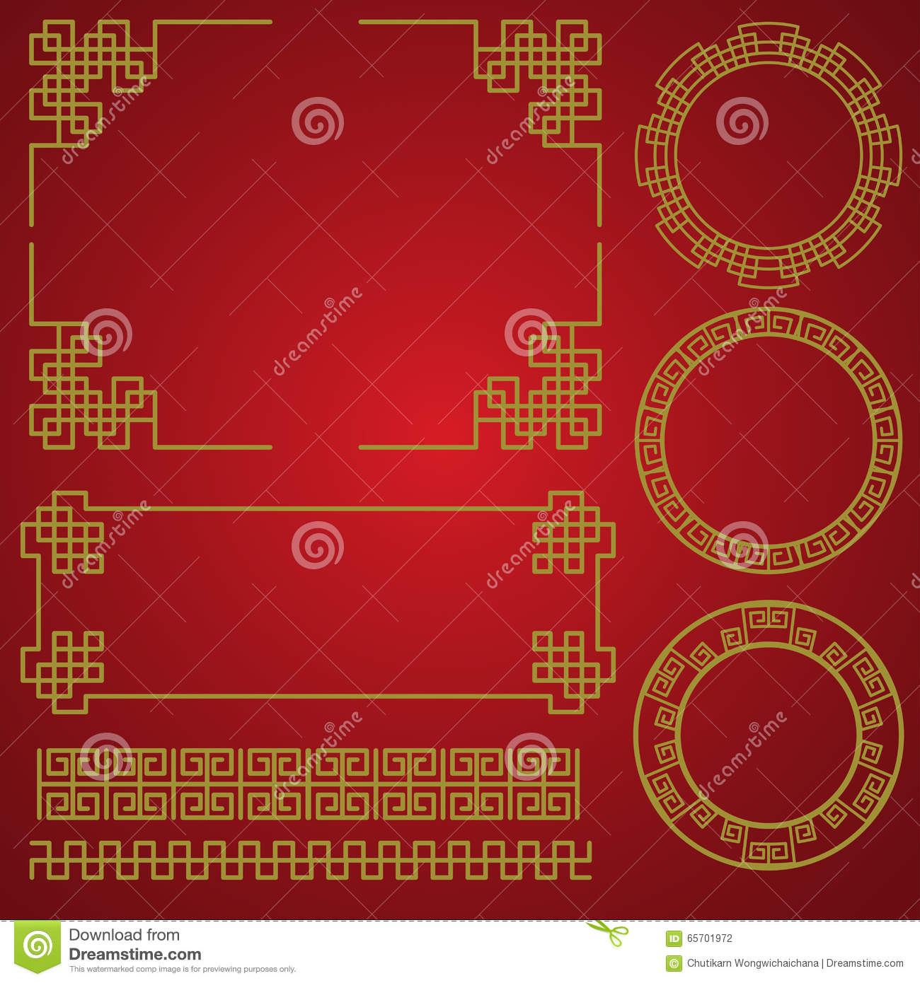 Chinese New Year Border  Vector Elements Stock Vector   Illustration     Download Chinese New Year Border  Vector Elements Stock Vector    Illustration of gold  culture
