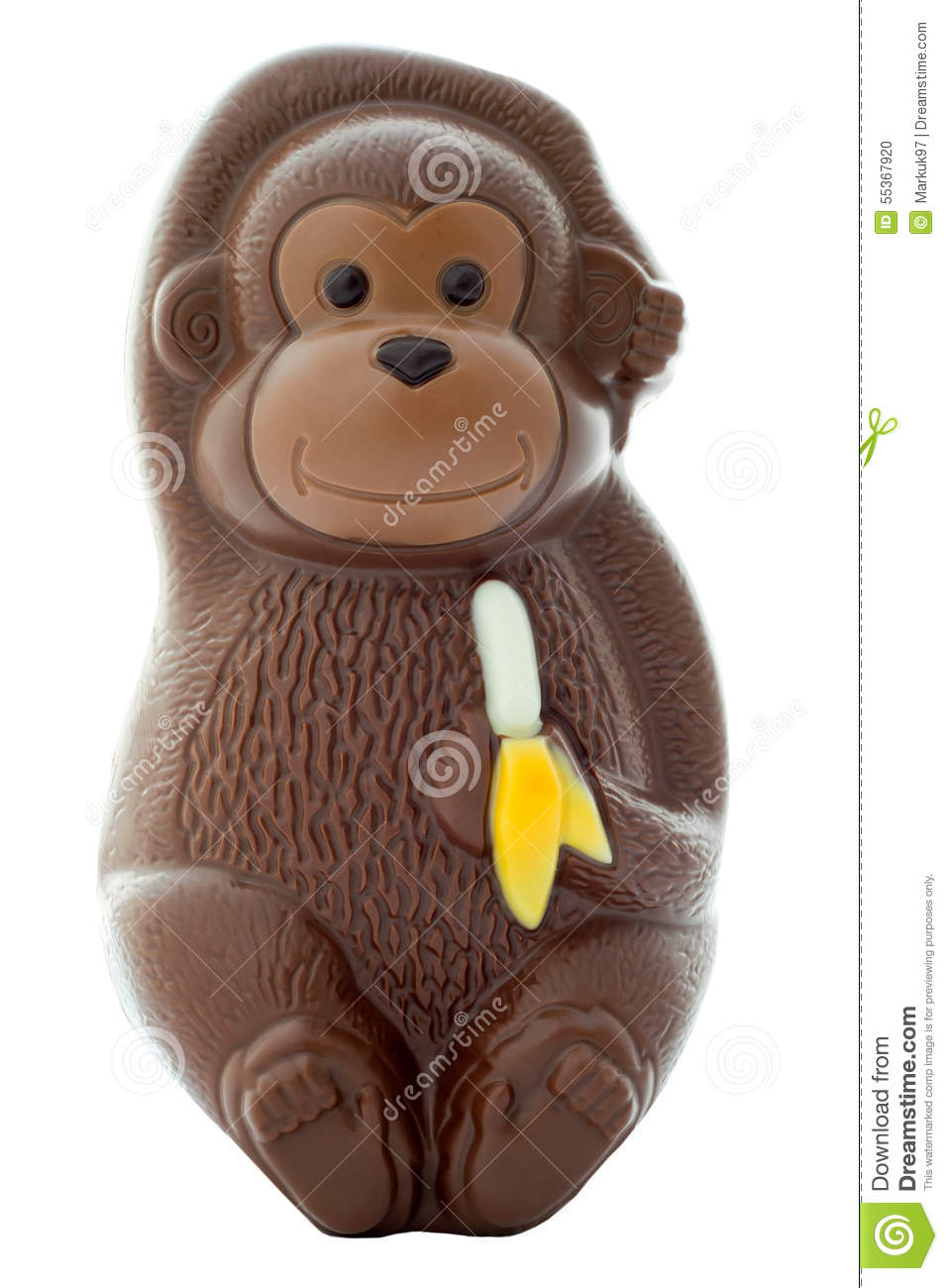Chocolate Monkey Stock Photo Image Of Cute Candy Brown