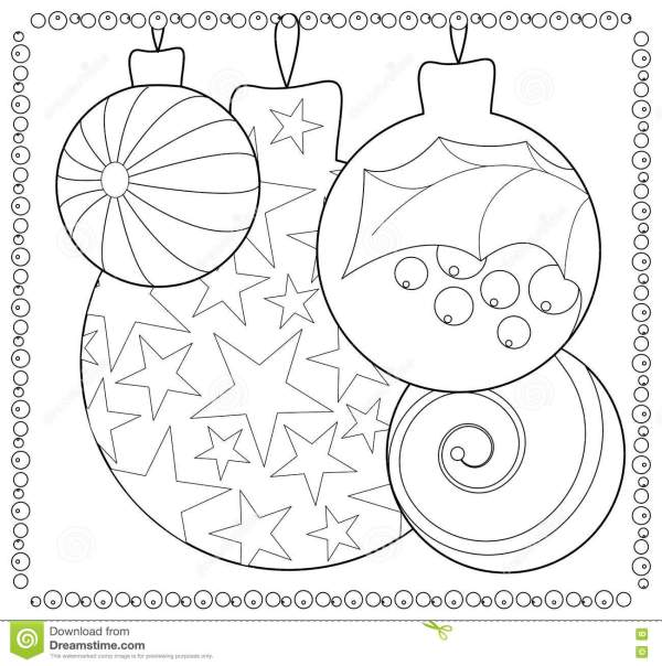 christmas ornament coloring page # 16