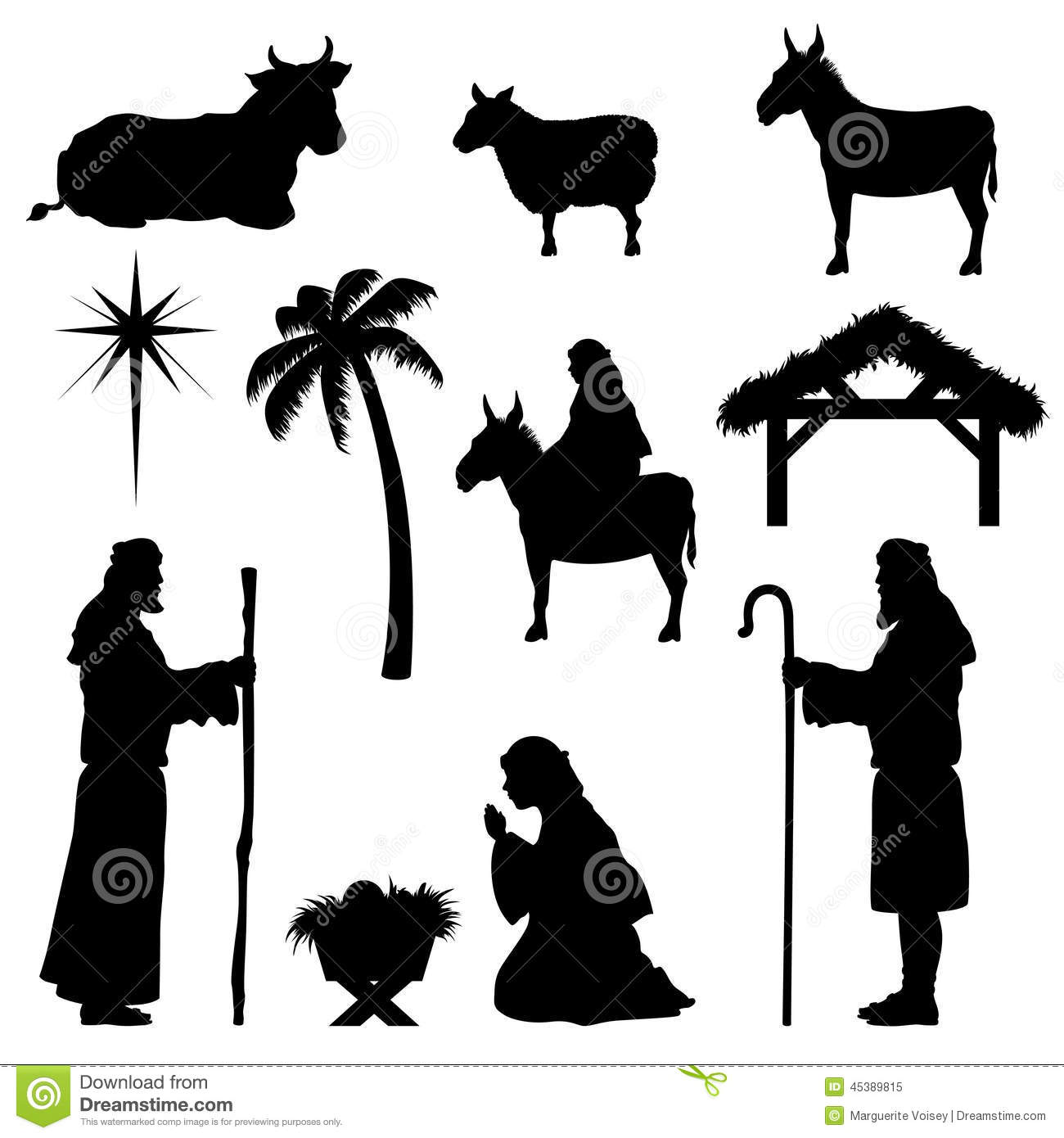Nativity Shepherds Kneeling