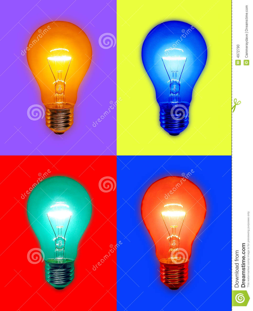 Colored Light Bulbs