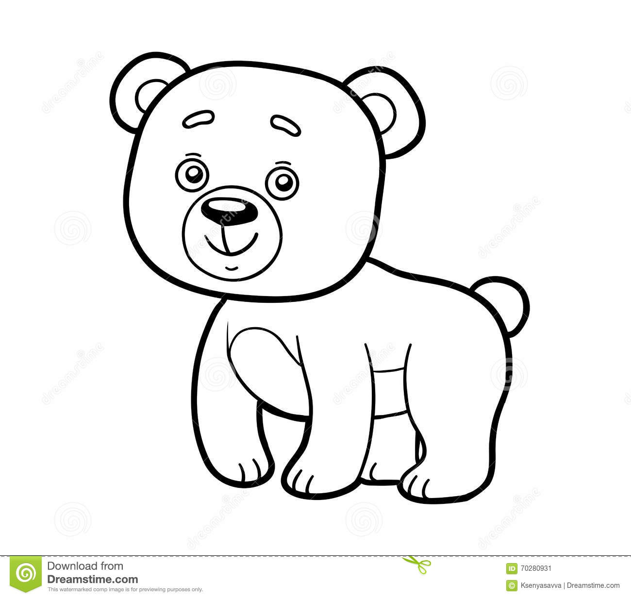 Coloring Book Coloring Page Bear Stock Vector Image 70280931