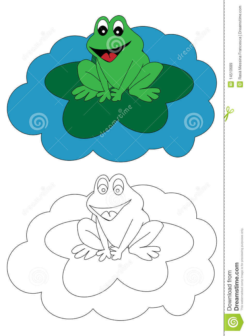 Coloring Page Book For Kids - Frog Royalty Free Stock ...