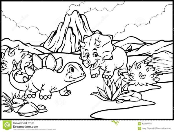 stegosaurus coloring page # 47