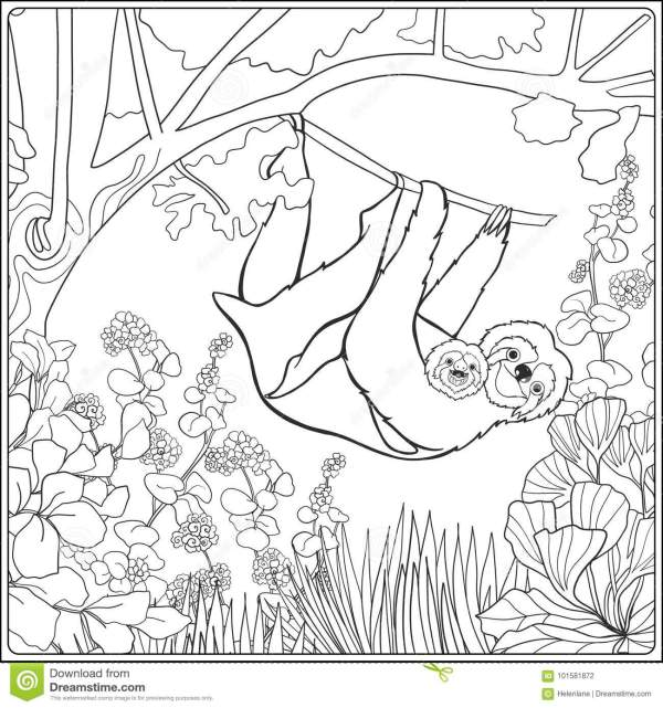 forest coloring page # 71