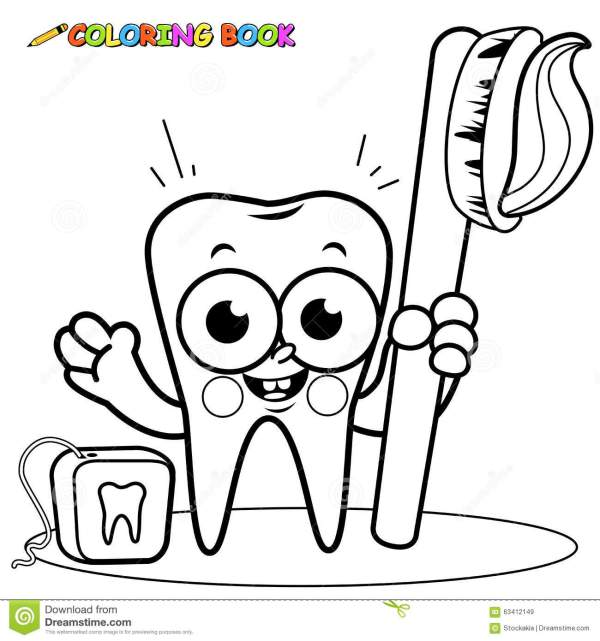 teeth coloring page # 9