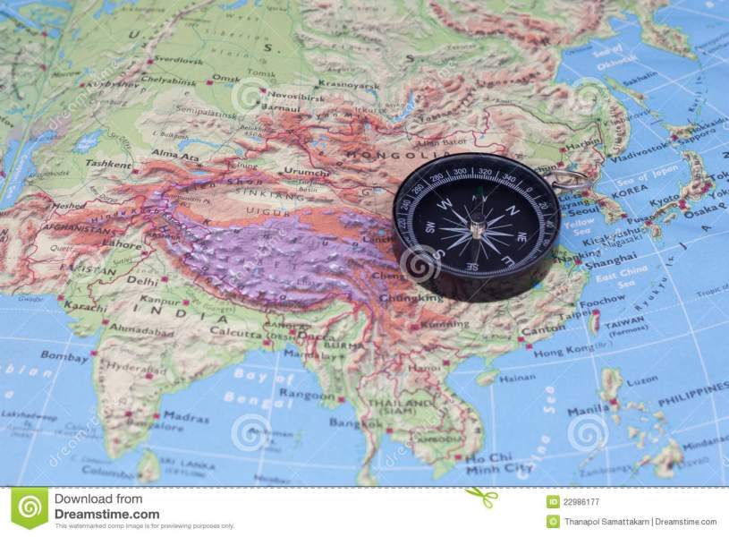 Compass And South east Asia Map Stock Illustration   Illustration of     Download Compass And South east Asia Map Stock Illustration   Illustration  of north  political