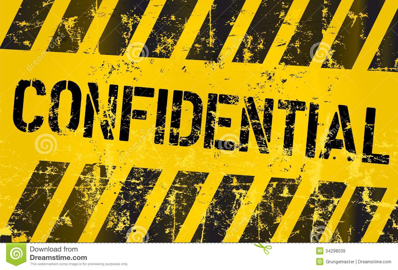 Confidential Sign, Vector Eps 10 Royalty Free Stock Images ...