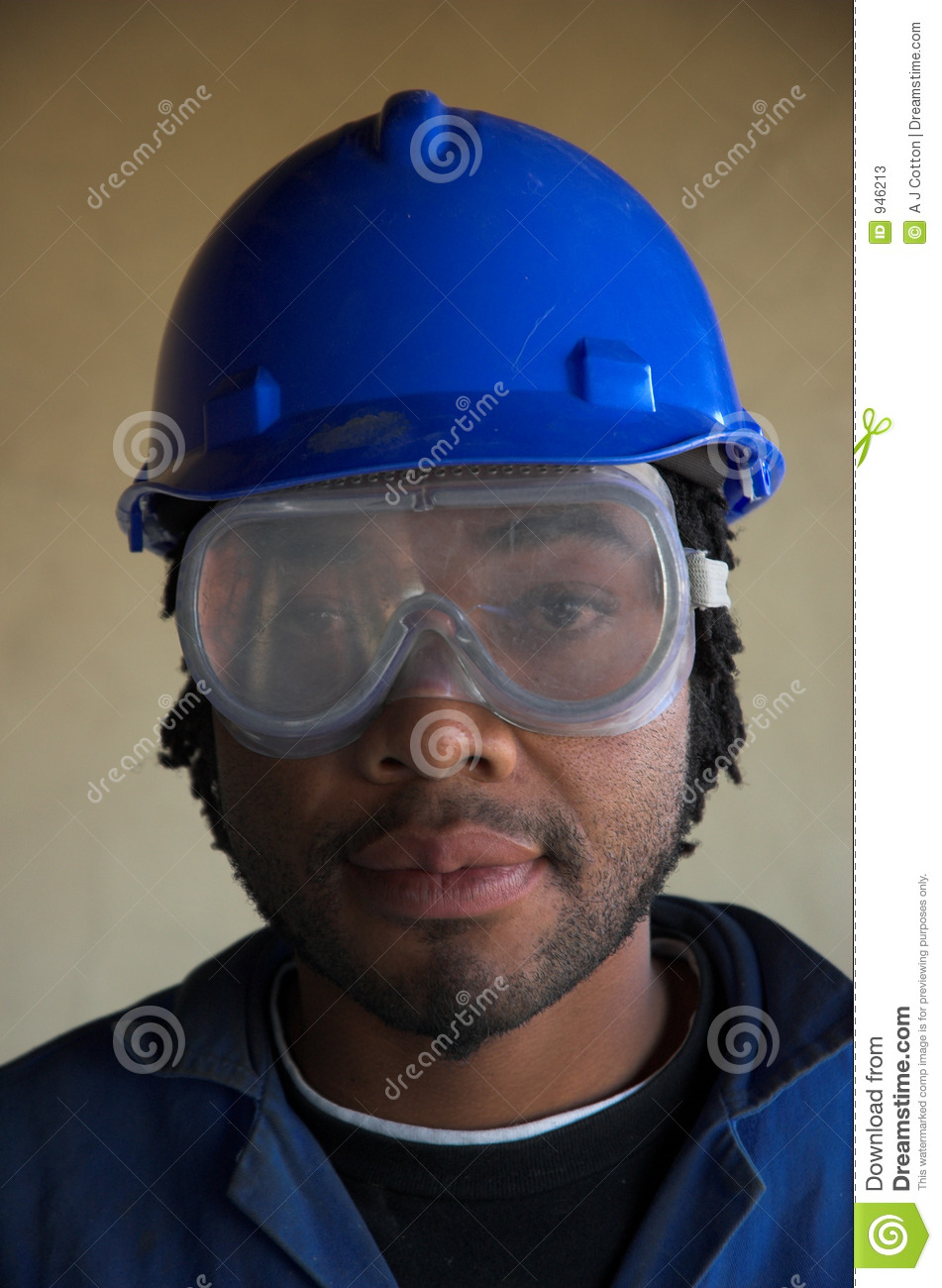 Construction Worker And Eye Face Mask Stock Photos Image