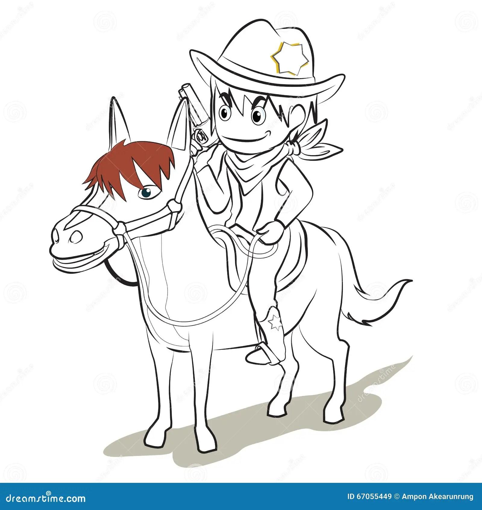 Animated Cowboy Horse