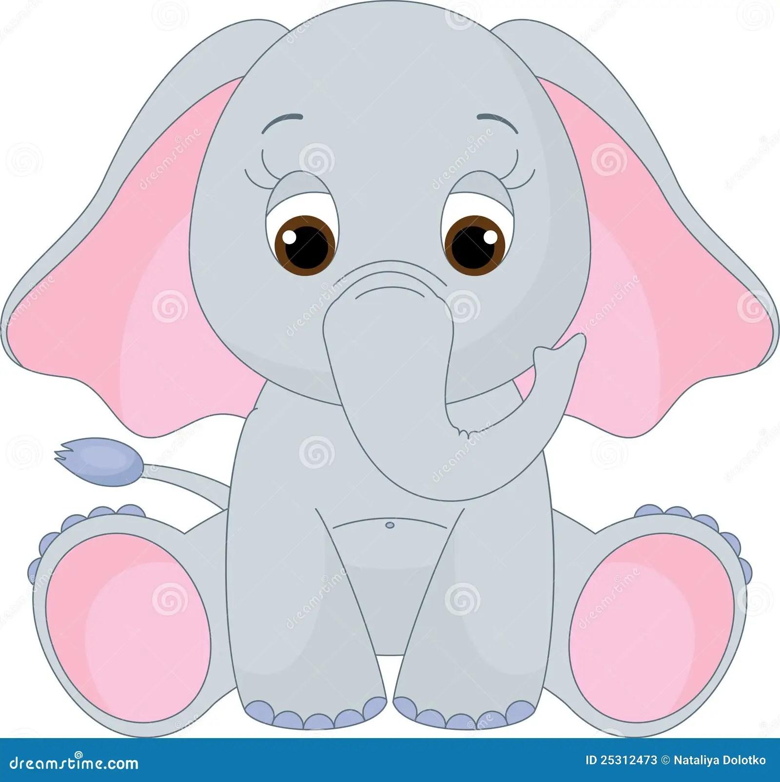 Pink Elephant Baby Shower