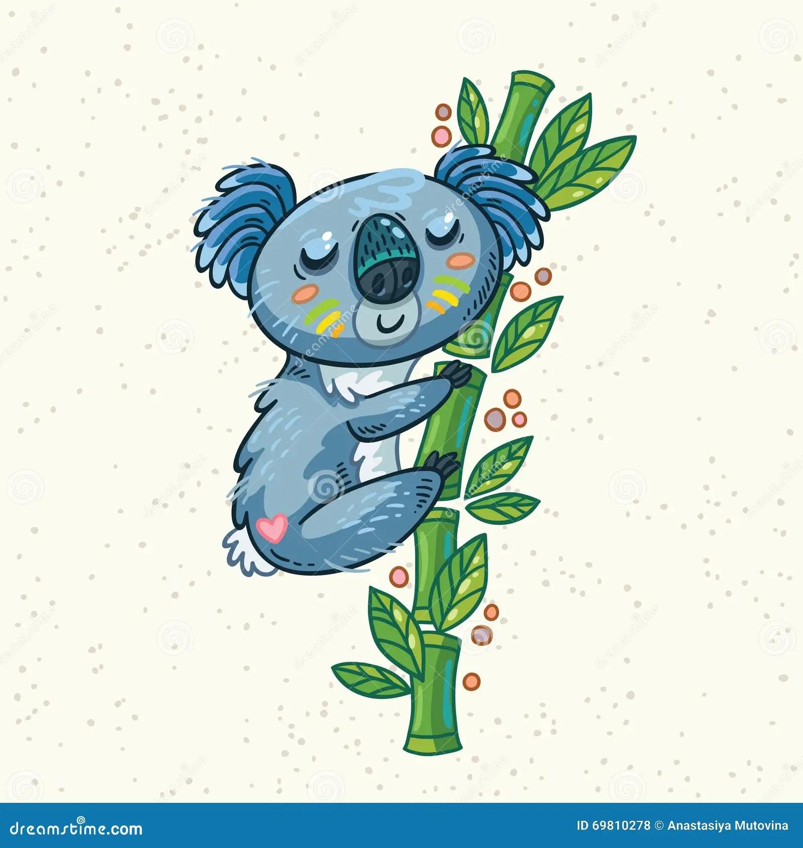 Koala Drawing Eucalyptus Tree