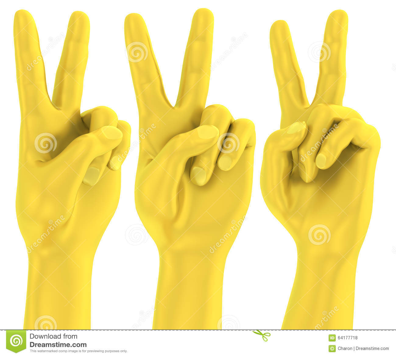 Peace Hand Sign Two Fingers