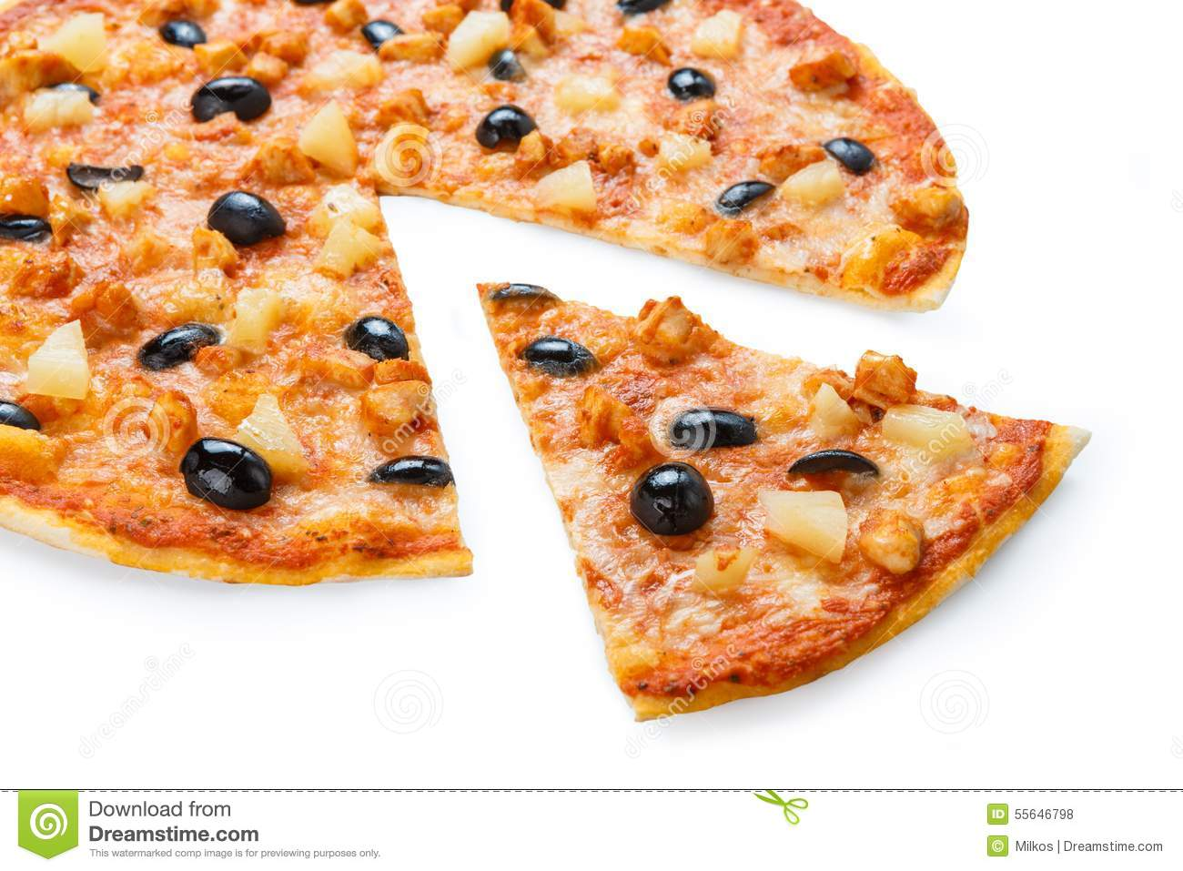 Pizza Chicken And Black Olives