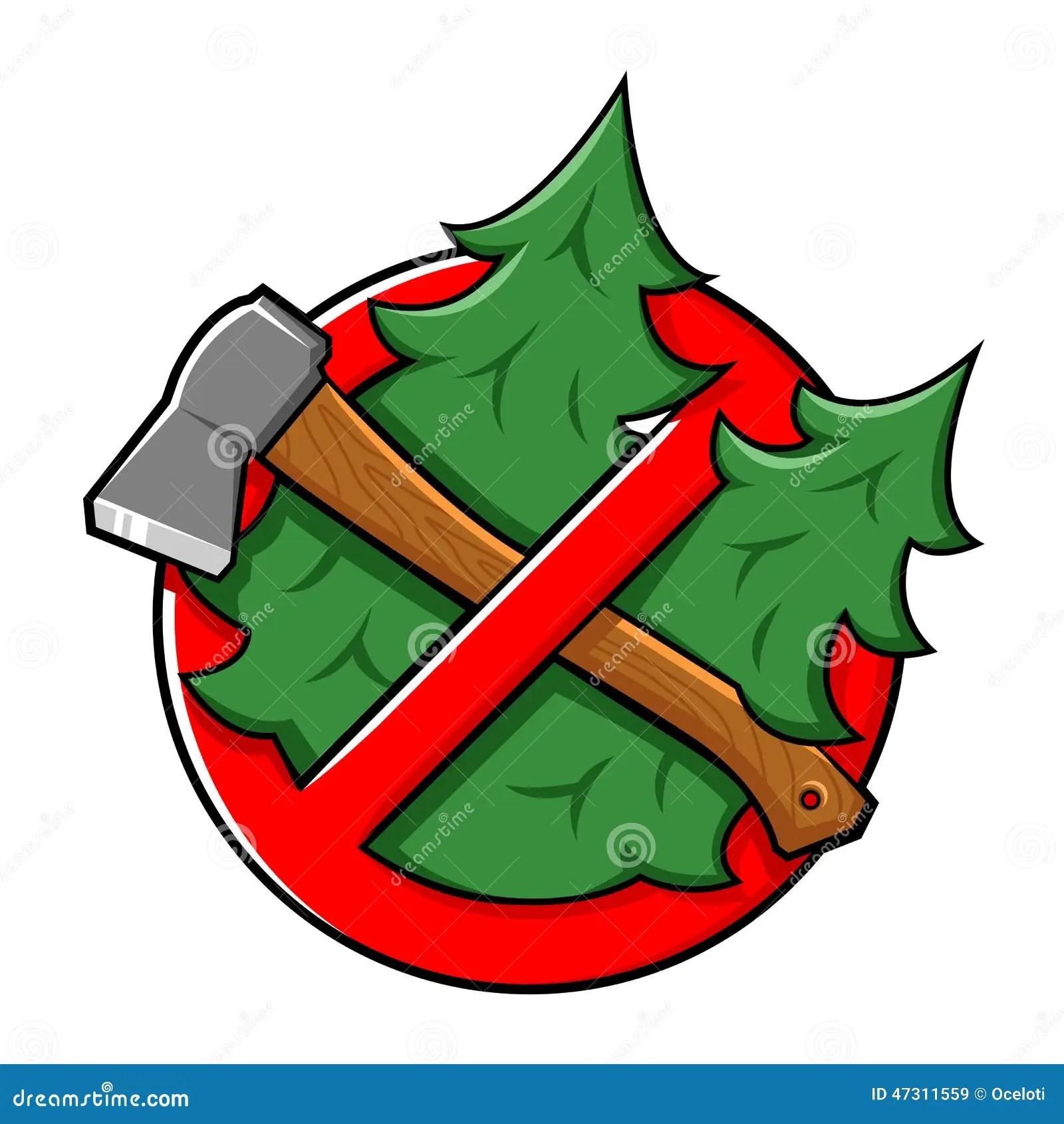 Do Not Cut Tree Sign stock vector. Illustration of danger ...