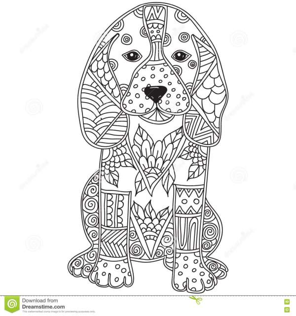 coloring pages dog # 23