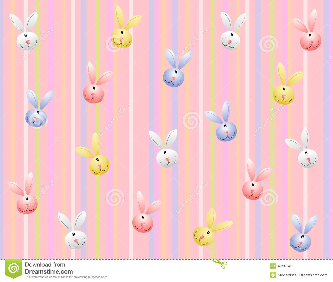 Faces Cute Easter Bunny