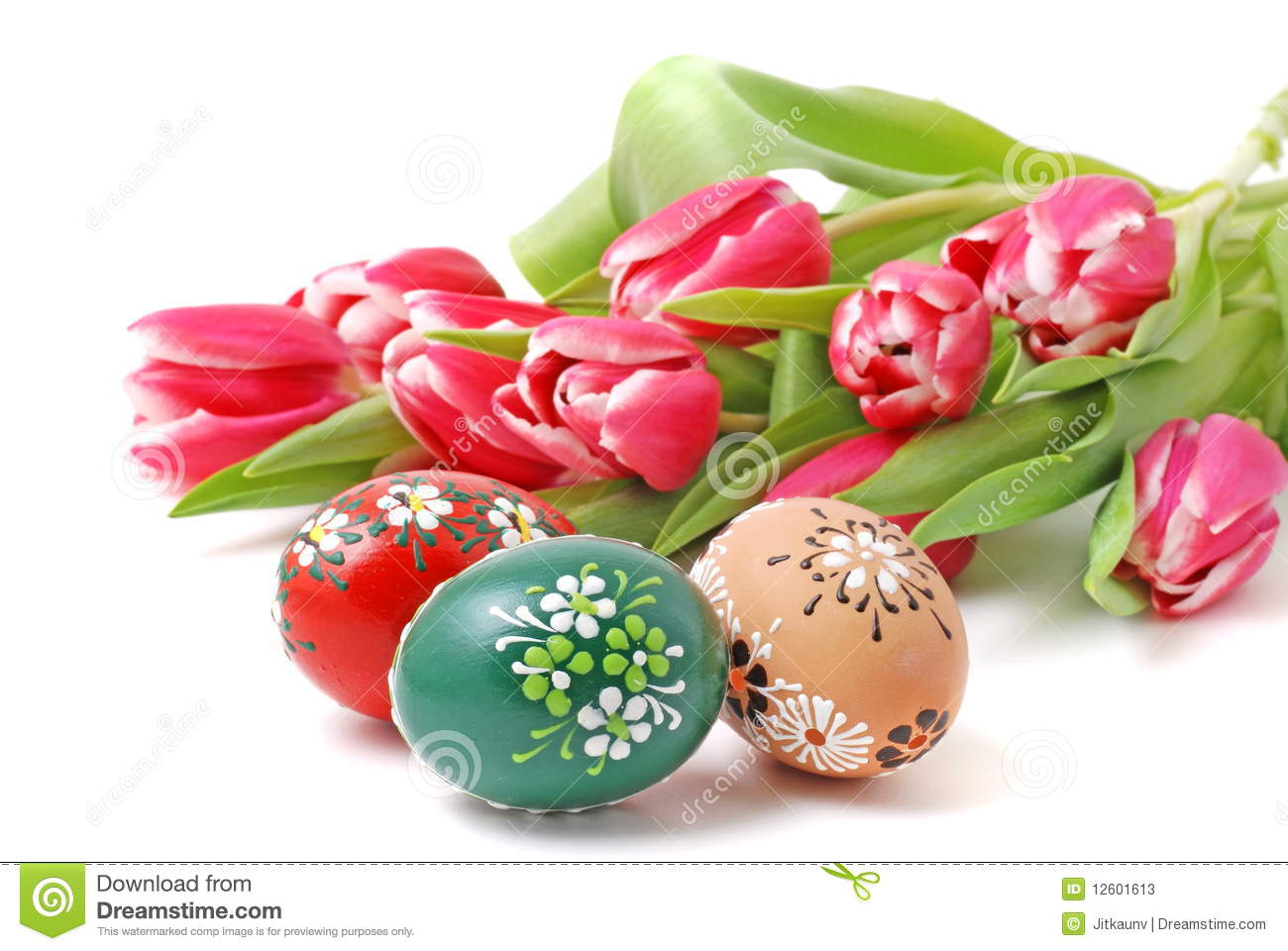 Easter Flowers and Eggs stock image  Image of festive   12601613 Easter Flowers and Eggs