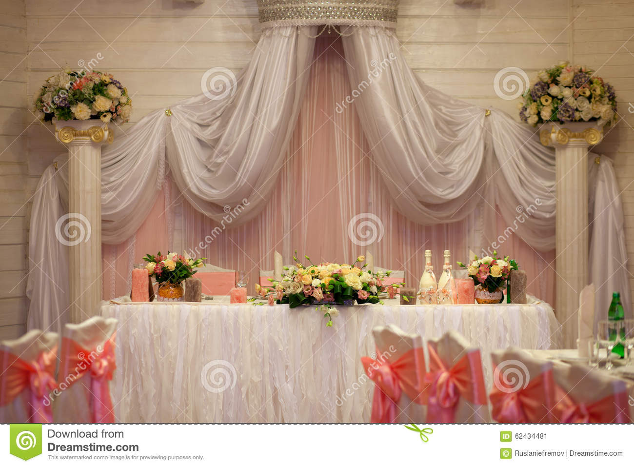Reception Table Decoration