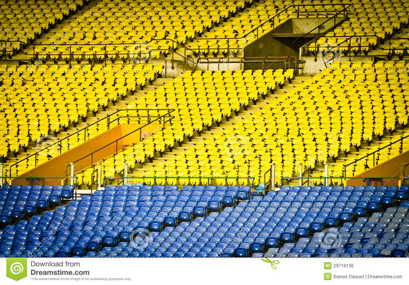 Empty Stadium Seats Royalty Free Stock Image Image 29716136