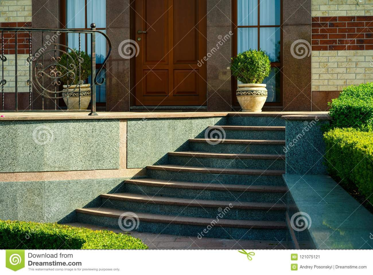 Porch With Steps To The House Stock Image Image Of Gold House | House Entrance Steps Designs | Contemporary | Side Entrance | House Main Gate Roof | Duplex House | Ultra Modern Modern Front