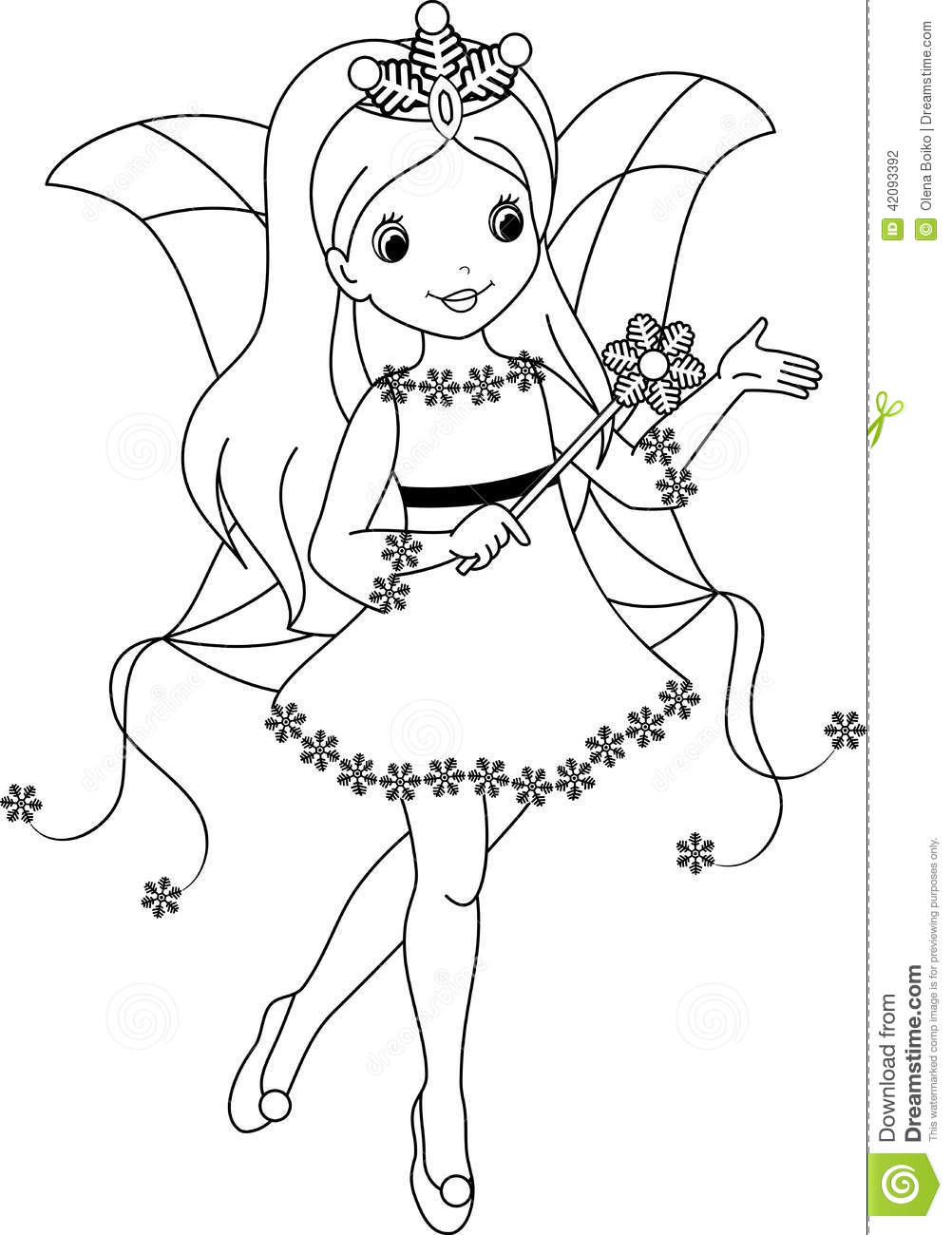 Free Tooth Fairy Coloring Pages Coloring Page