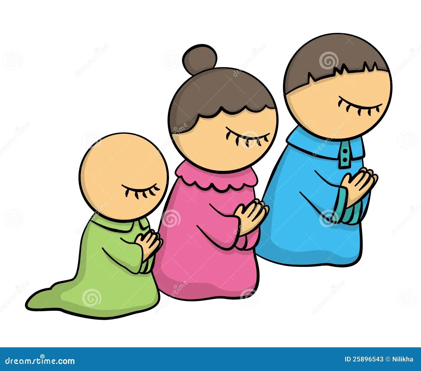 Family at pray stock illustration. Illustration of ...