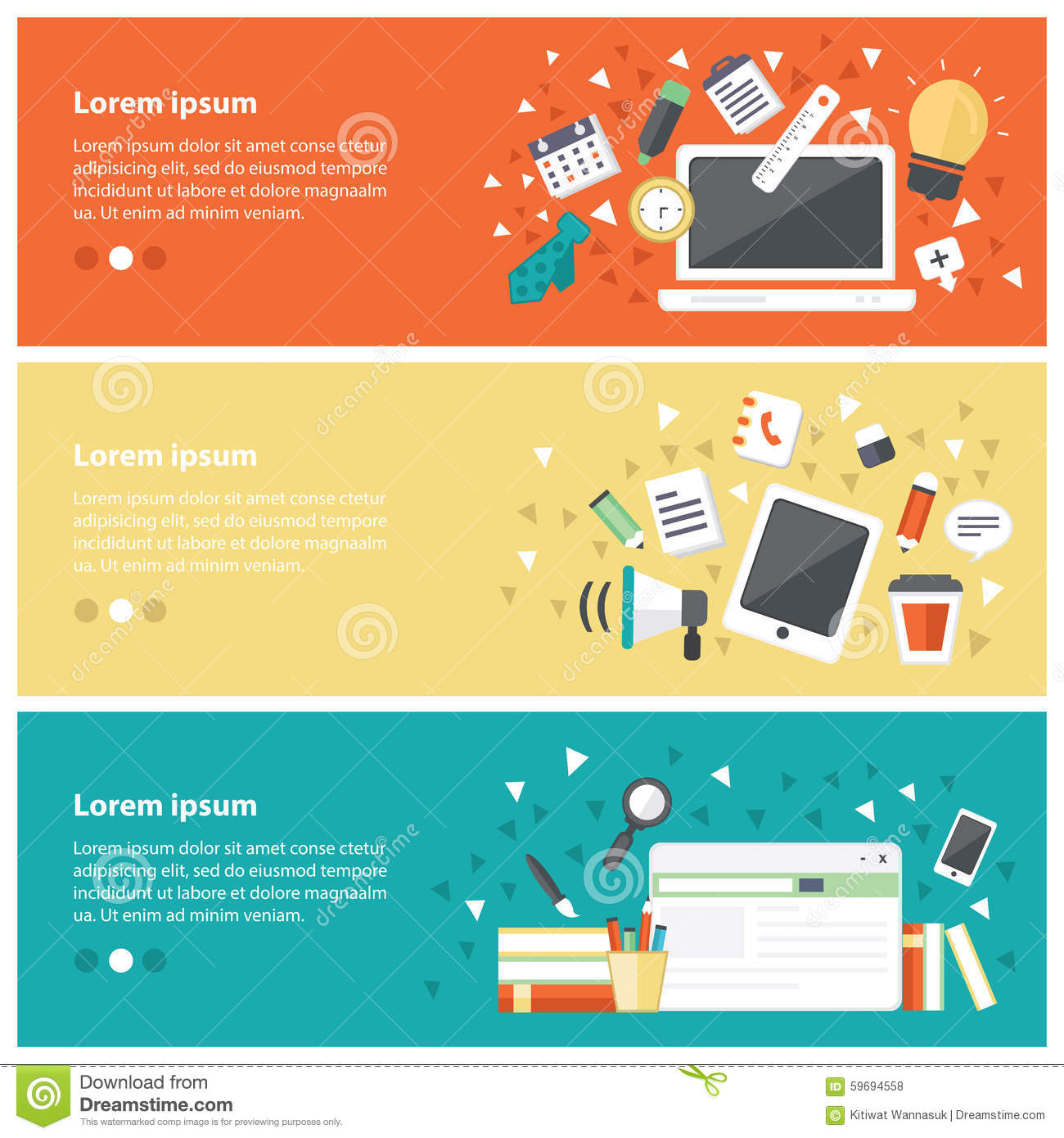 Flat Design Concepts For Online Education,online Training ...