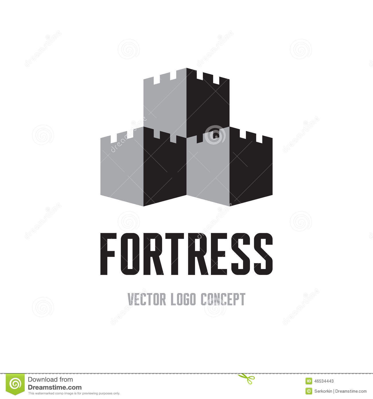 Fortress Creative Logo Sign Concept Castle Tower