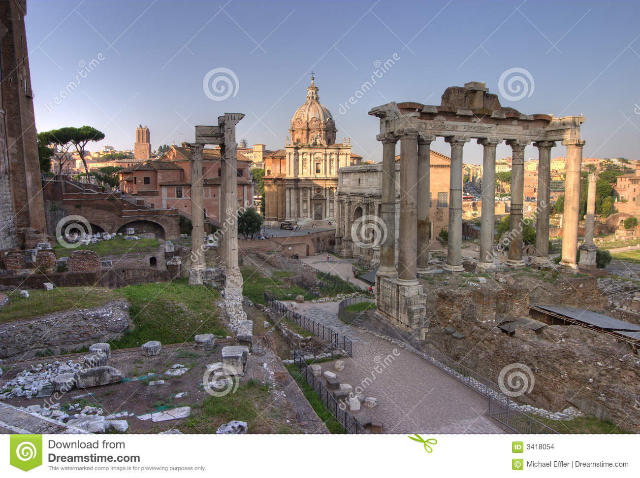 Forum romanum in Rome, hdr stock photo. Image of ancient ...