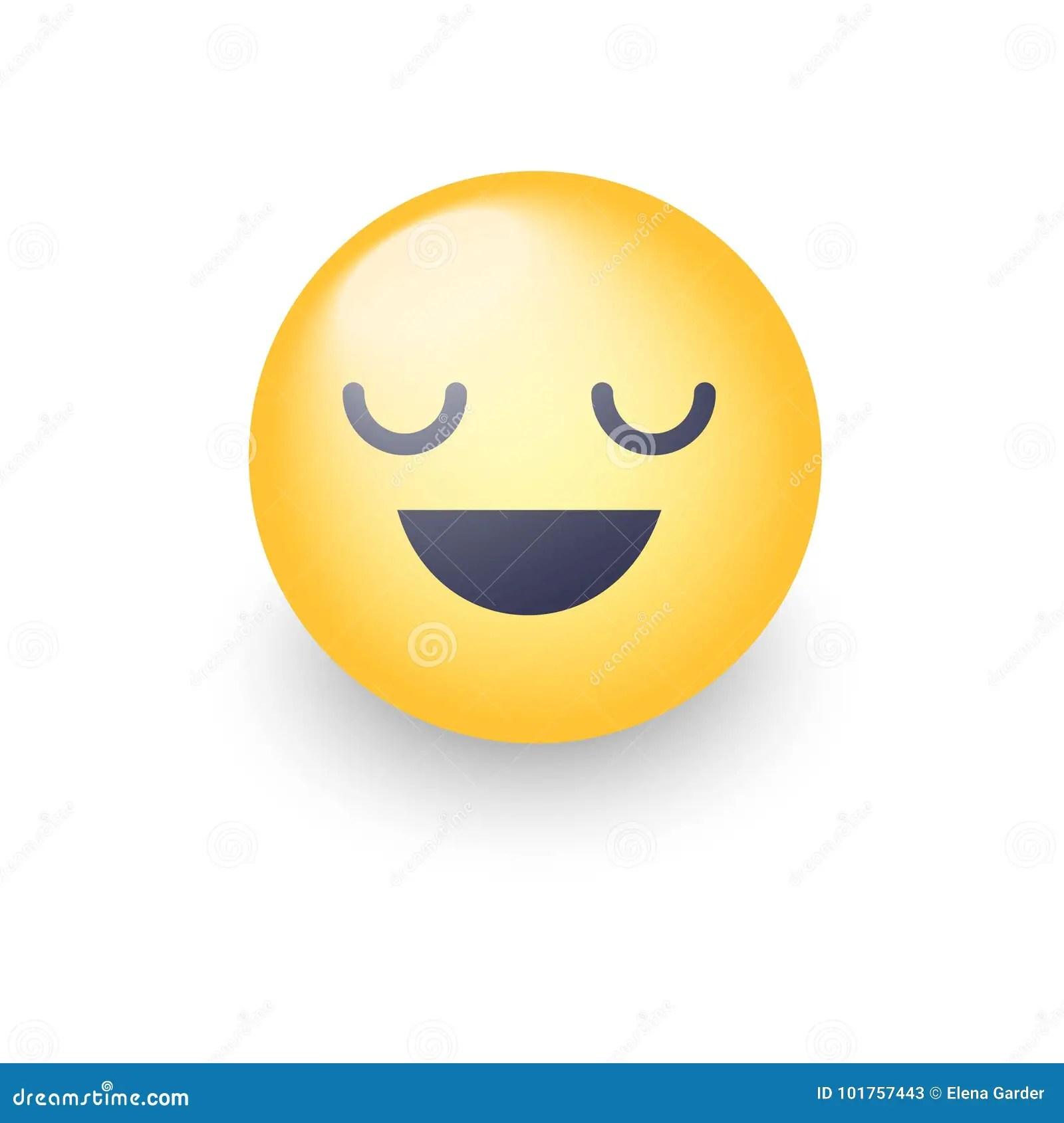 Fun Cartoon Emoji Smiley Icon Face. Happy Smiling Emoticon ...