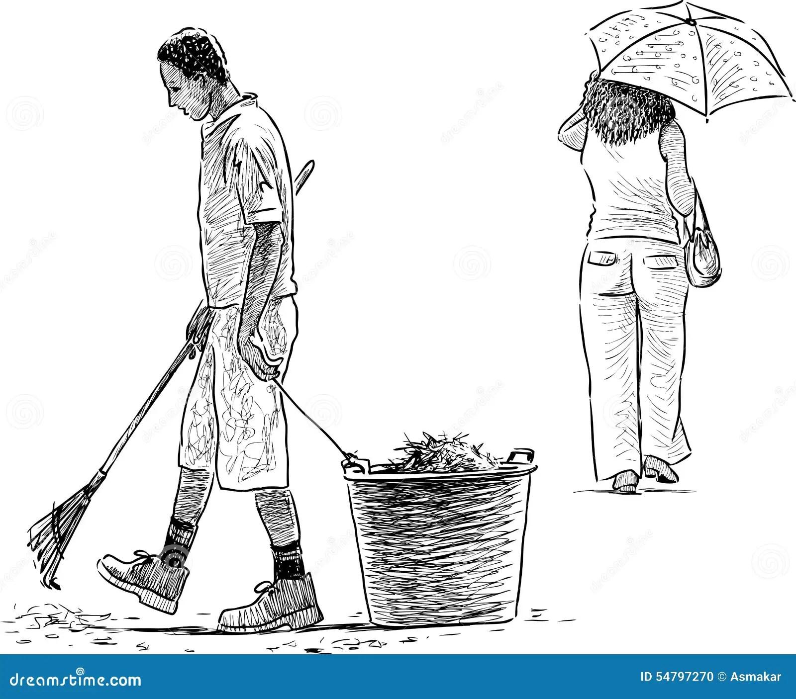 Gardener And Woman Stock Vector - Image: 54797270