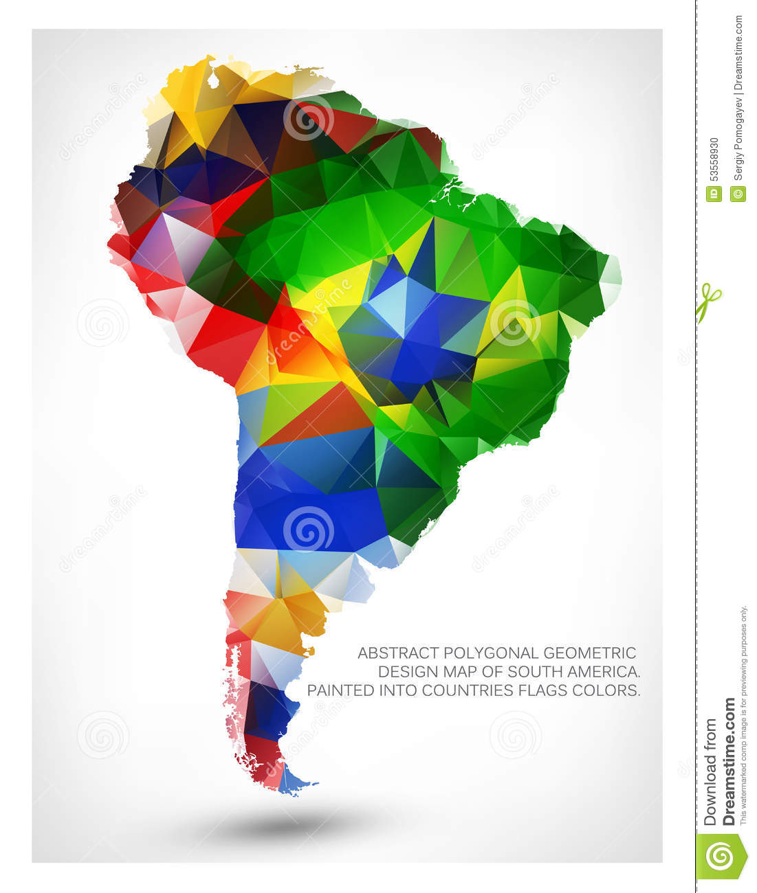 GEOMETRIC DESIGN MAP OF SOUTH AMERICA Stock Vector   Illustration of     Download comp