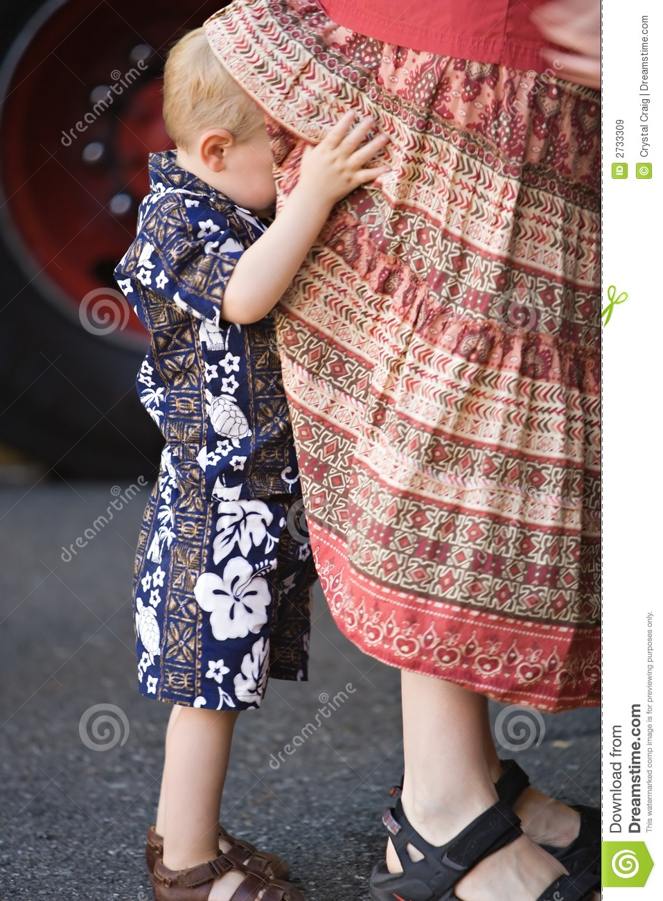 Getting Moms Attention Royalty Free Stock Images Image