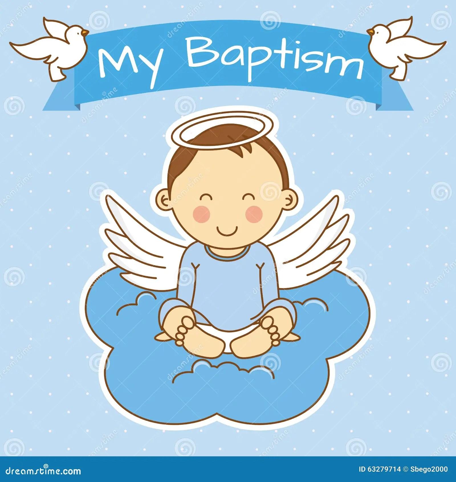 Invitation Card Baptism Baby Boy