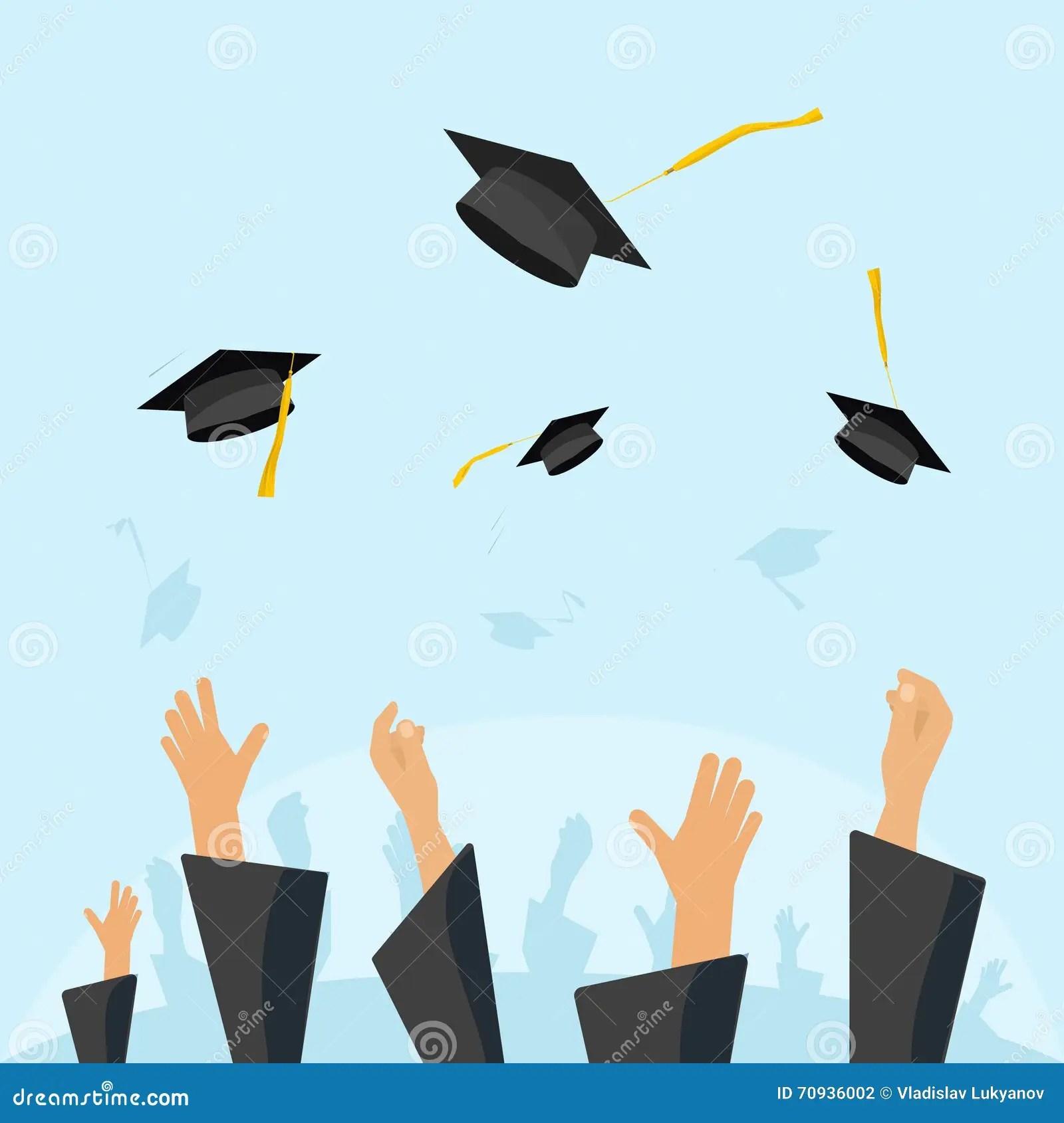 Student Graduation Cap And Gown Cartoon