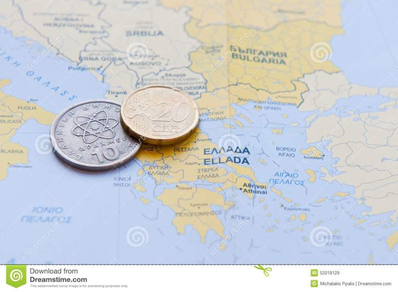 Greek Drachma And Euro Cent On A Greek Map Stock Image   Image of     Download Greek Drachma And Euro Cent On A Greek Map Stock Image   Image of  coin