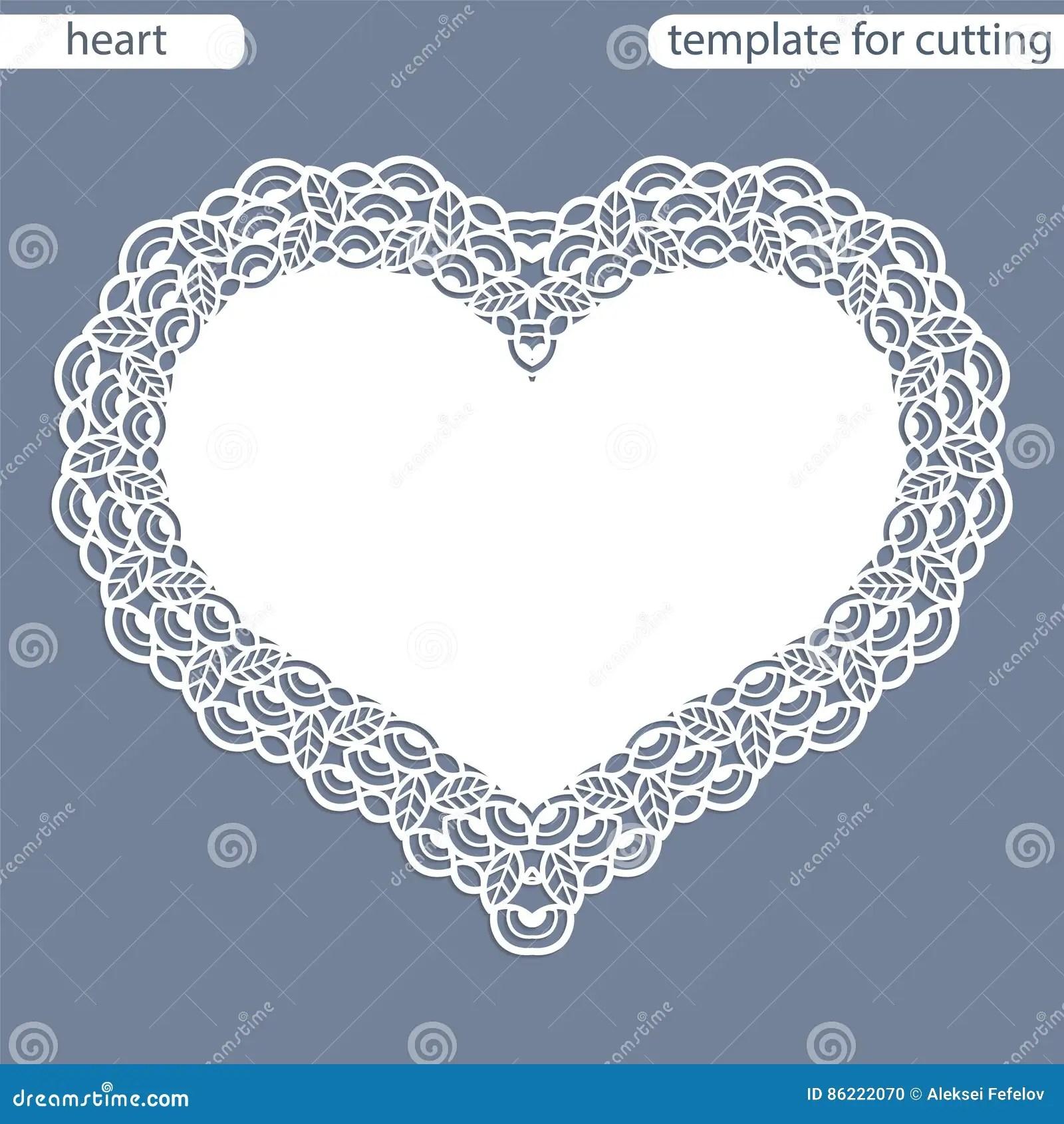 Heart Laser Cut Invitation