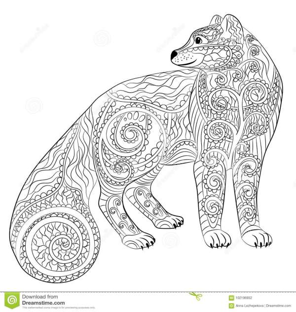 arctic fox coloring page # 12