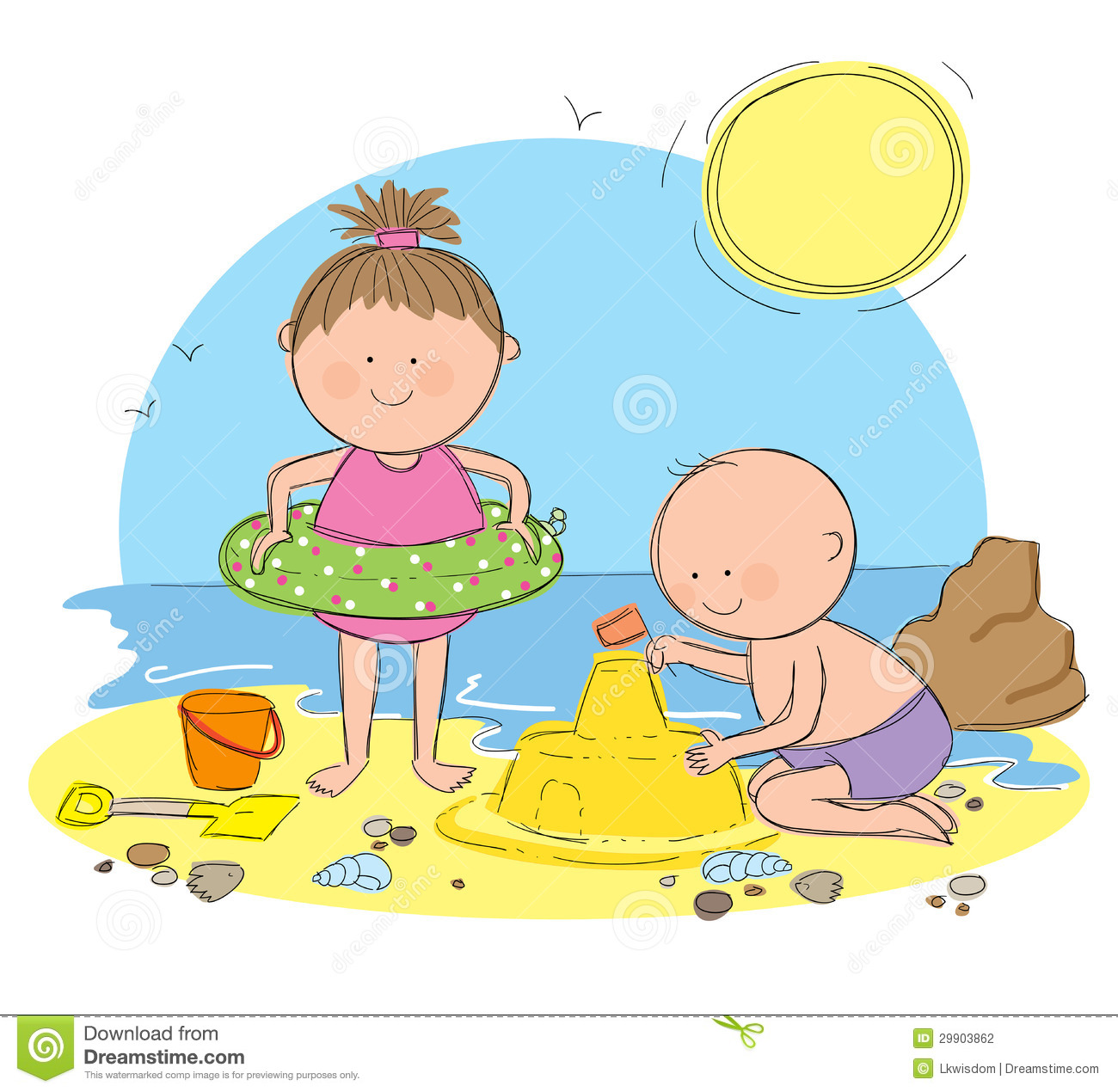 Summer Water Play Day Clip Art