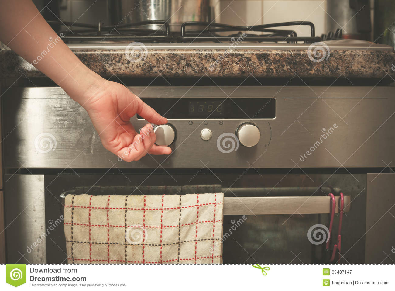 Turning On A Cooking Stove