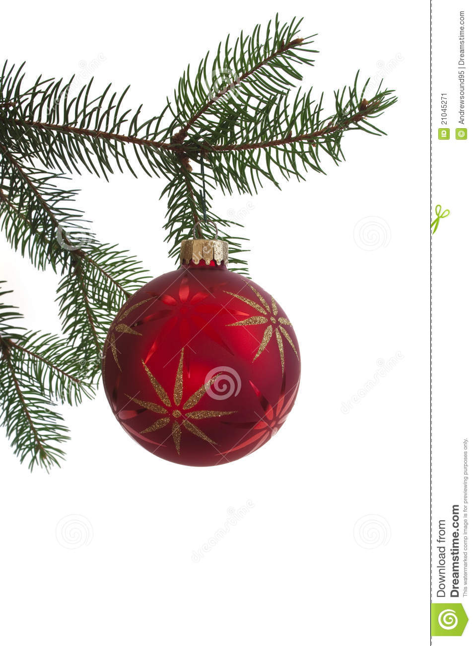 Red And Green Ornament Set