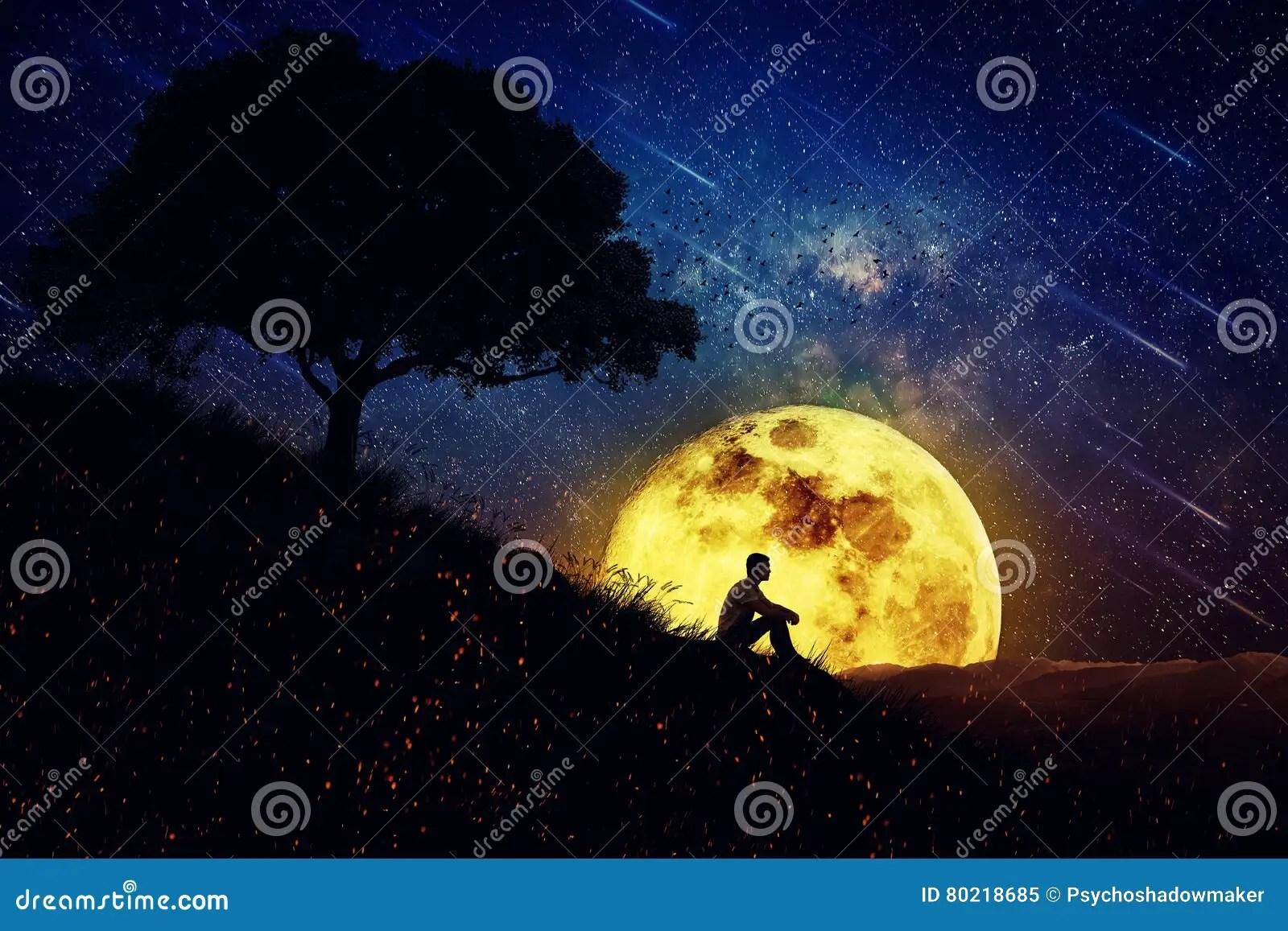 The Healing Power Of Nature (Night Scene) Stock Image ...